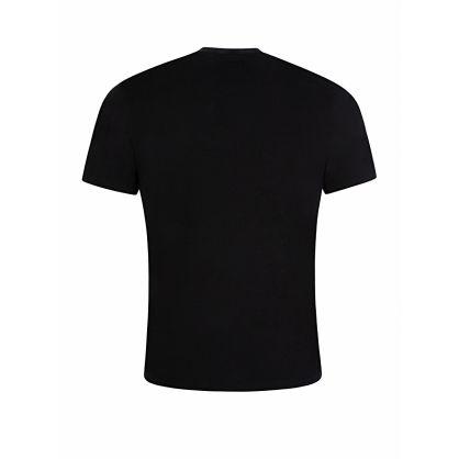 All Black Chest Logo Print T-Shirt