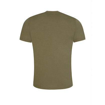 Green Chest Patch Logo T-Shirt