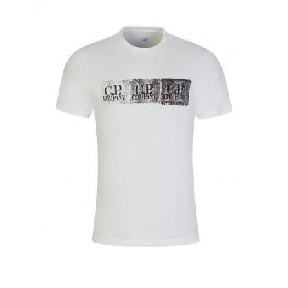 Cream Tyre Tread Logo T-Shirt