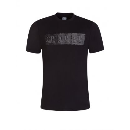 Black Tyre Tread Logo T-Shirt