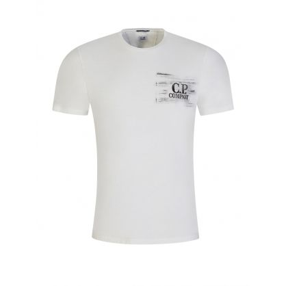 White Smudged Logo T-Shirt