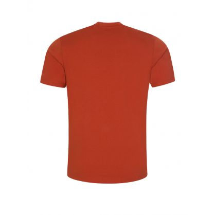 Orange 30/1 Jersey Label Print T-Shirt