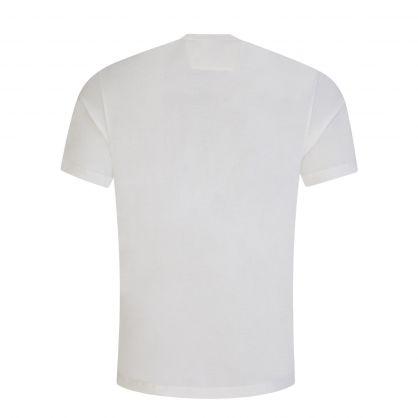 White 30/1 Jersey Vertical Logo T-Shirt