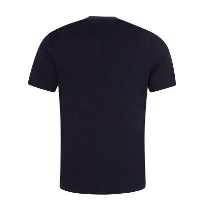 Navy Vertical Logo T-Shirt