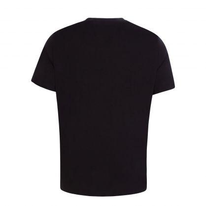 Black 30/1 Jersey Vertical Logo T-Shirt