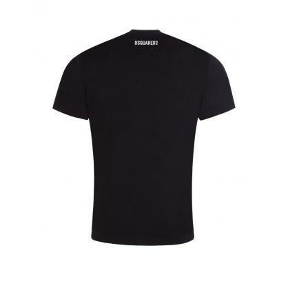 Black Mirrored DSQ2 Logo T-Shirt