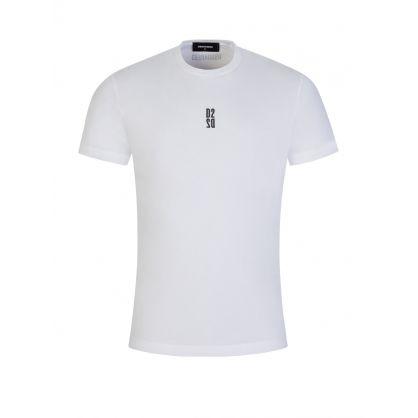White Mirrored D2 Chest Logo T-Shirt
