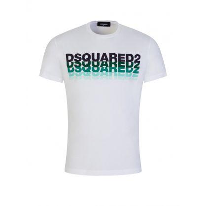 White Repeating Logo T-Shirt