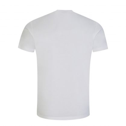 White Graphic Leaf Logo T-Shirt