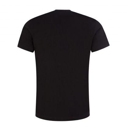 Black ICON Monotone-Print T-Shirt
