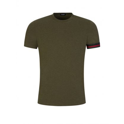 Green Arm Tape Logo T-Shirt
