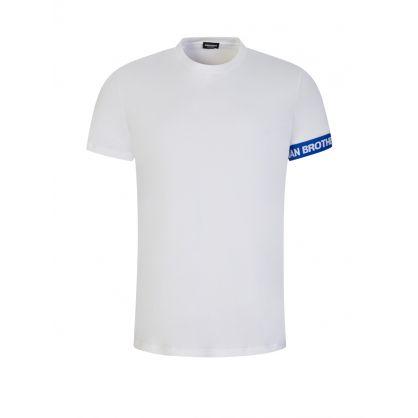 White Underwear Collection Cuff Logo T-Shirt