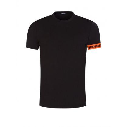 Black Underwear Collection Cuff Logo T-Shirt