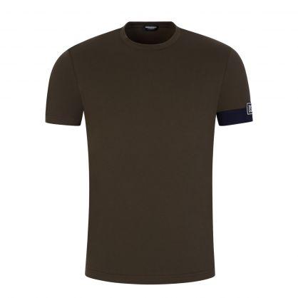 Green Underwear Arm Patch Loungewear T-Shirt