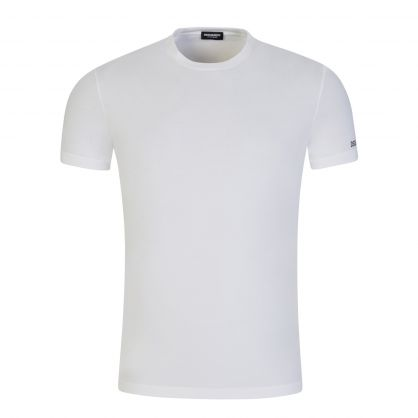 White Underwear Sleeve Logo Loungewear T-Shirt