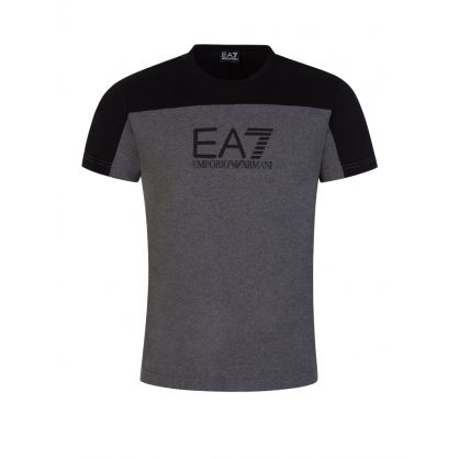 Grey Colourblock Logo T-Shirt