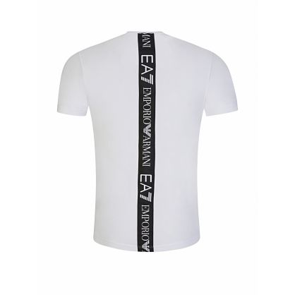 White Back Tape Logo T-Shirt