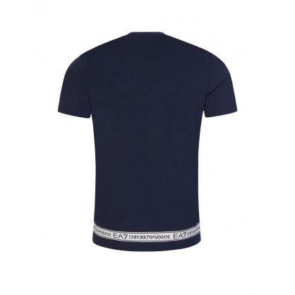 Navy Hem Logo T-Shirt