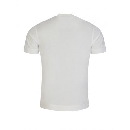White Slim-Fit Multi-Logo T-Shirt