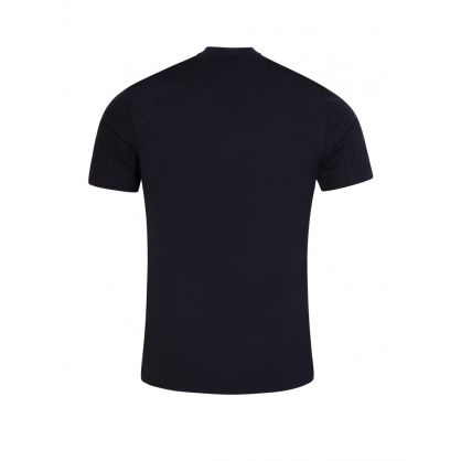 Navy Multi-Logo Slim Fit T-Shirt