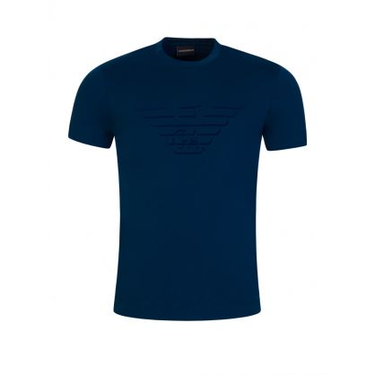 Blue Large Eagle Logo T-Shirt