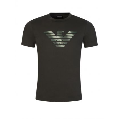Green Eagle Logo Print T-Shirt