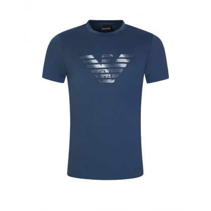 Blue Eagle Print Logo T-Shirt
