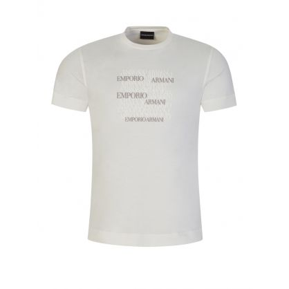 Warm White Repeat Logo T-Shirt