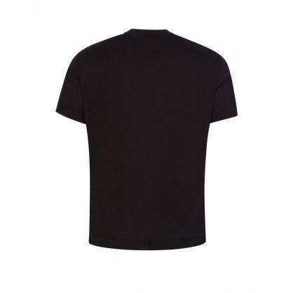 Black Stitched Eagle Logo T-Shirt