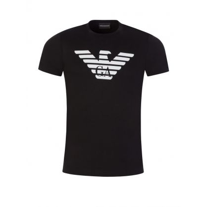 Black Large Eagle Logo T-Shirt