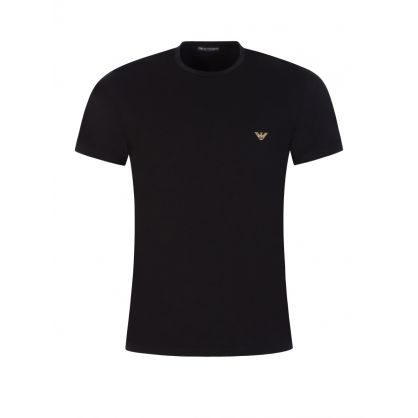 Black Gold Eagle Logo T-Shirt
