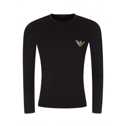 Black Logo Gold Eagle T-Shirt