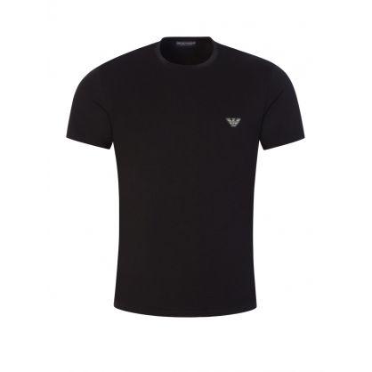 Black Stretch Cotton Lounge T-Shirt