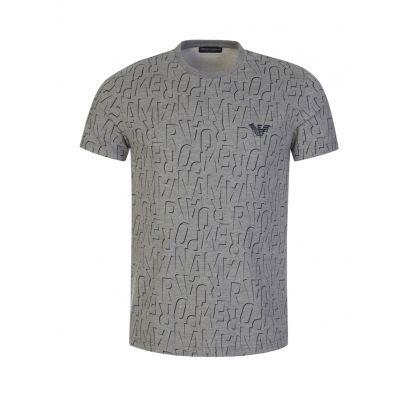 Grey Allover Logo Lounge T-Shirt