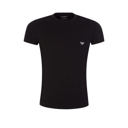 Emporio Armani Black Big Eagle Lounge T-Shirt