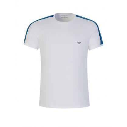 White Stretch Cotton Loungewear T-Shirt