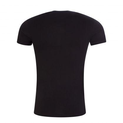 Black Stretch Cotton Crewneck T-Shirts 2-Pack