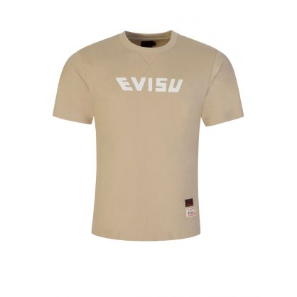 Beige Camouflage Daicock Print T-Shirt