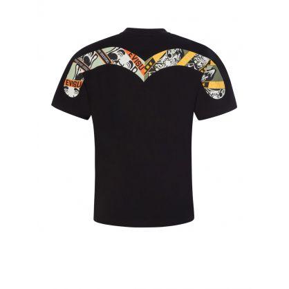 Black Godhead Daruma Print T-Shirt