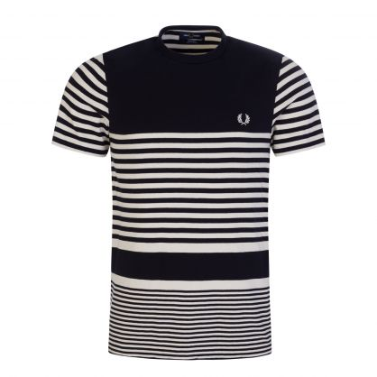 Navy/Cream Striped T-Shirt