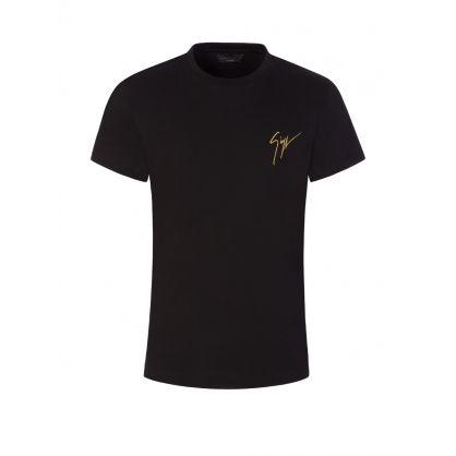 "Black Living Room"" Signature Logo T-Shirt"