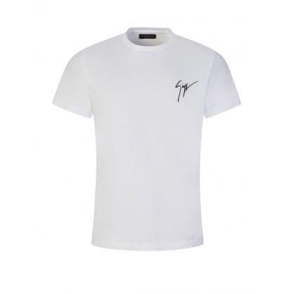 "White ""Living Room"" Signature Logo T-Shirt"