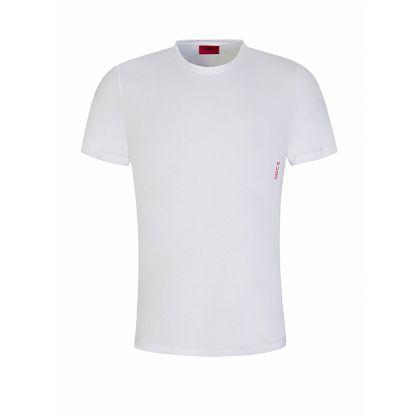 Menswear White Cotton T-Shirt Twin Pack