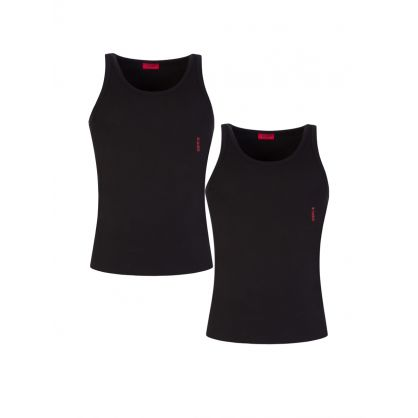 Black Twin Pack Stretch Cotton Tank Tops