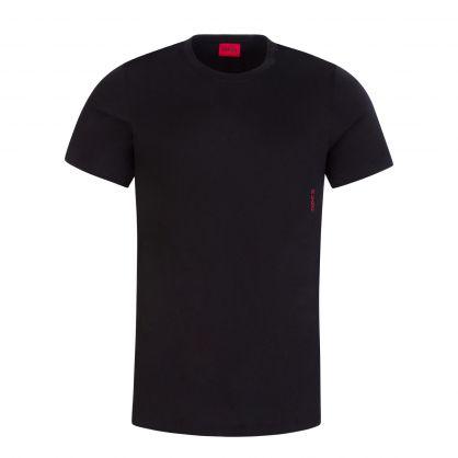 Black/Navy Cotton Crewneck T-Shirts Twin-Pack