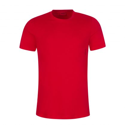 Black/Red Twin Pack Crew Neck T-Shirts