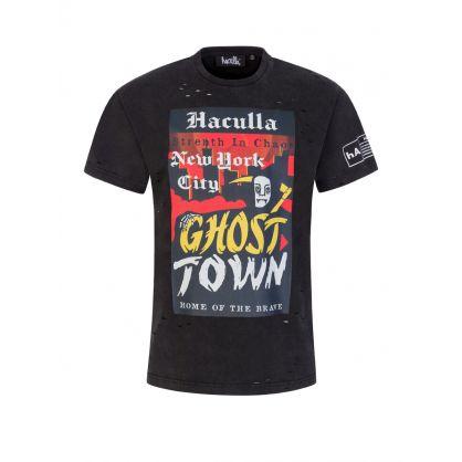Black Ghost Town Vintage T-Shirt