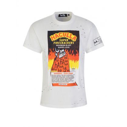 Off White Firecracker Vintage T-Shirt