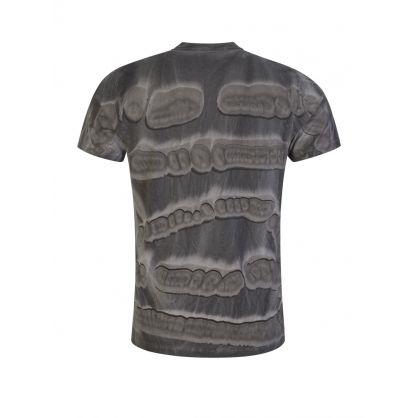 Grey Graphic Print Pattern T-Shirt