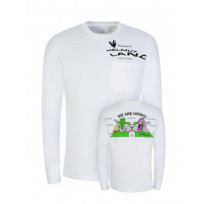 White Helmut Land Graphic Sweatshirt